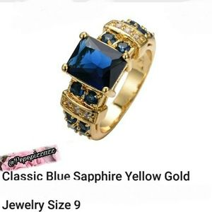 pepepizzazz Jewelry - Gorgeous 10k yellow gold filled saphire ring.